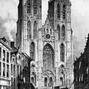 Brussels: Cathedral, 1838 Poster