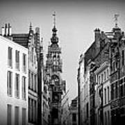 Brussels In Black And White Poster