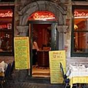 Brussels - Restaurant Savarin Poster