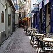 Brussels Side Street Cafe Poster