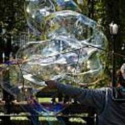 Bubble Blowr Of Central Park Poster