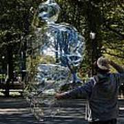 Bubble Boy Of Central Park Poster