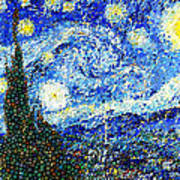 Bubbly Starry Night Poster