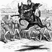 Bucking Mule, 1879 Poster
