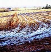 Bucks County Late Winter Fields Poster