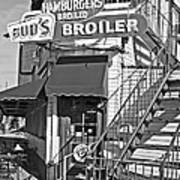 Bud'd Broiler New Orleans-bw Poster
