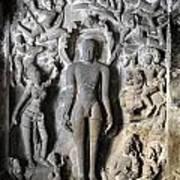 Buddha At Elora Caves India Poster