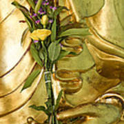 Buddha Hand Holding Flower Poster