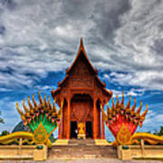 Buddha Temple Poster