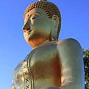Buddha With Sunset Poster