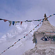 Buddhist Shrine In The Himalayas Poster