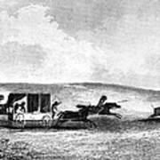 Buffalo Hunt, 1841 Poster