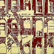 Building Facade Line Art Poster