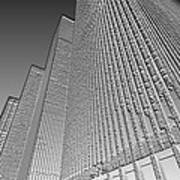 Building In Monochrome Poster