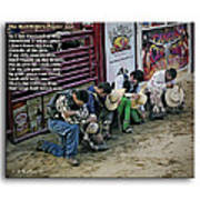 Bull Riders Prayer - With Prayer Text Poster