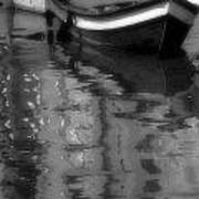 Burano Reflections Bw Poster