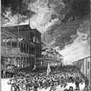 Burning Of Colon, 1885 Poster