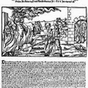 Burning Of Witches, 1555 Poster by Granger