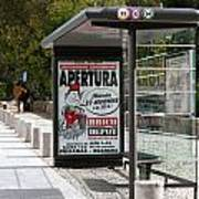 Bus Stop Bus Goes Poster
