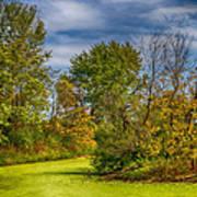 Busch Wildlife Swampy Autumn Poster by Bill Tiepelman