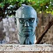 Bust Of Carlos Lleras Restrepo In Cartagena De Indias Colombia Poster