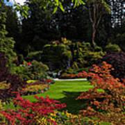 Butchart Gardens - Sunken Garden Poster by Matt Dobson