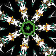 Butterflies Mania Kaleidoscope Poster