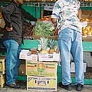Buying Fruit Poster