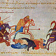 Byzantines Cavalrymen Pursuing The Rus Poster