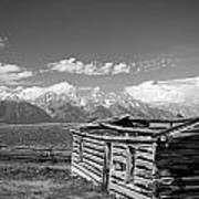 Cabin And The Grand Tetons Poster