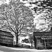 Cabin Under Buttermilk Skies I Poster by Dan Carmichael