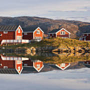 Cabins At Sommaroy, Tromso, Norway Poster by David Clapp