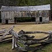 Cable Mill Barn In Cade's Cove No.122 Poster