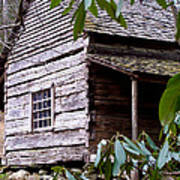 Cades Cove Cabin Poster by Jim Finch