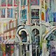 Cafe In Paris Poster by Carol Mangano