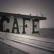 Cafe On The Pier Poster