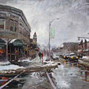 Caffe Aroma In Winter Poster