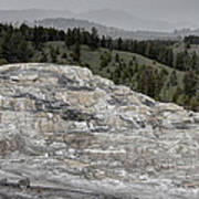 Calcite Bench - Mammoth Hot Springs Poster