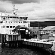 Caledonian Macbrayne Rothesay Ferry At Wemyss Bay Scotland Uk Poster