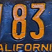 California 1937 Poster