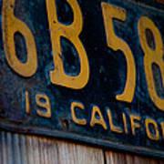 California Plate II Poster