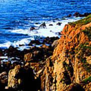 California Waterfront Poster