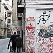 Calle Alvaro De Bazan Graffiti Poster