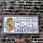 Calle D Borbon Poster by Bill Cannon