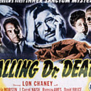 Calling Dr. Death, Patricia Morison, J Poster by Everett