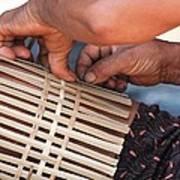Cambodian Basket Weaver Poster