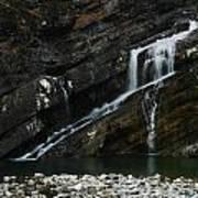 Cameron Falls Waterton Lakes National Park Poster