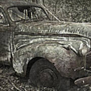Camouflage Classic Car Poster
