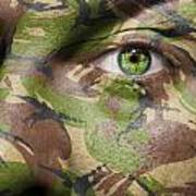 Camouflage Warrior Poster