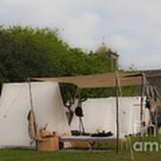 Camp At Goliad Poster